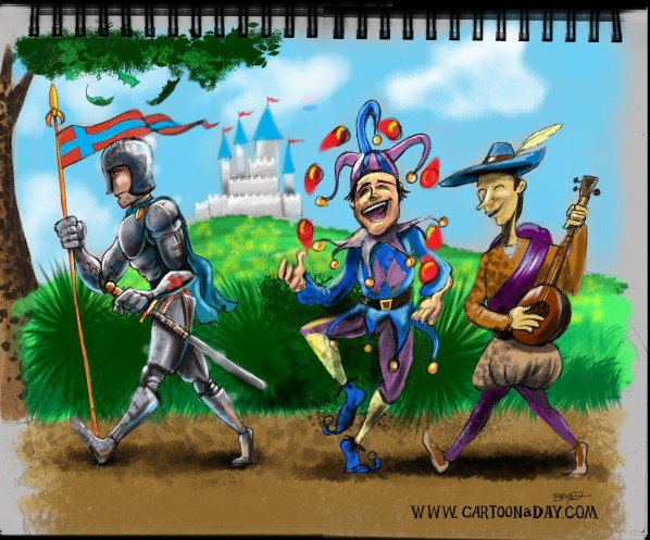 a-knights-parade