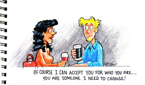 Of Course I can accept you, Cartoon A Day