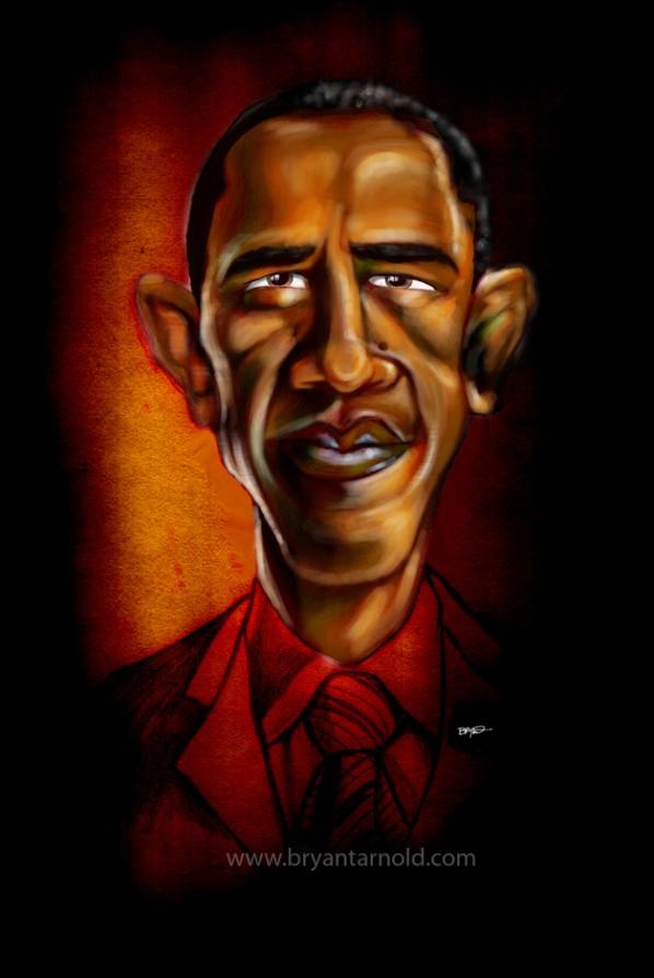 President Obama In Red Velvet