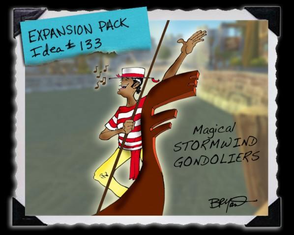 World of Warcraft Stormwind Gondolier Expansion Parody