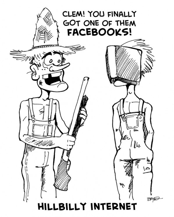 Clem! You finally got one of them Facebooks!