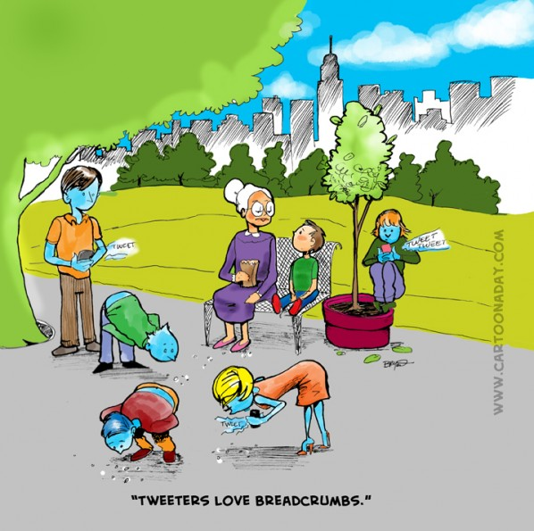 Tweeters Love Breadcrumbs.