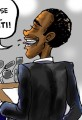 President Supports Haiti Cartoon