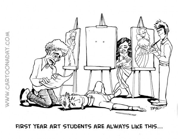 First year art students are always like this...