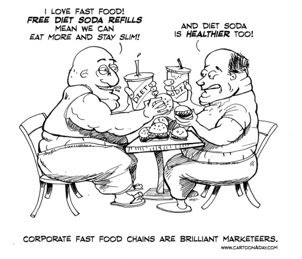 diet soda fast food cartoon