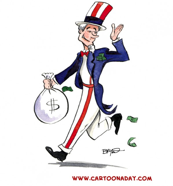 Ever feel like Uncle Sam is running off with your hard-earned money?