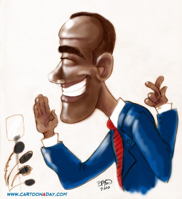 Obama I promise sketch