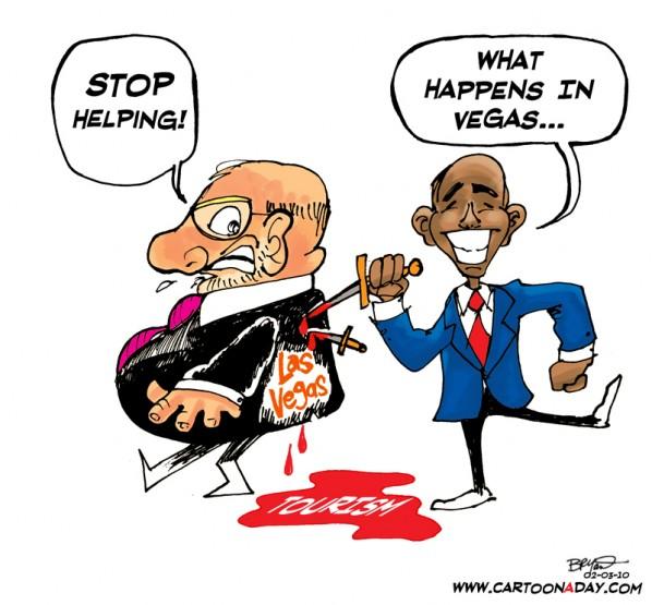 Obama Stabs Vegas Econ