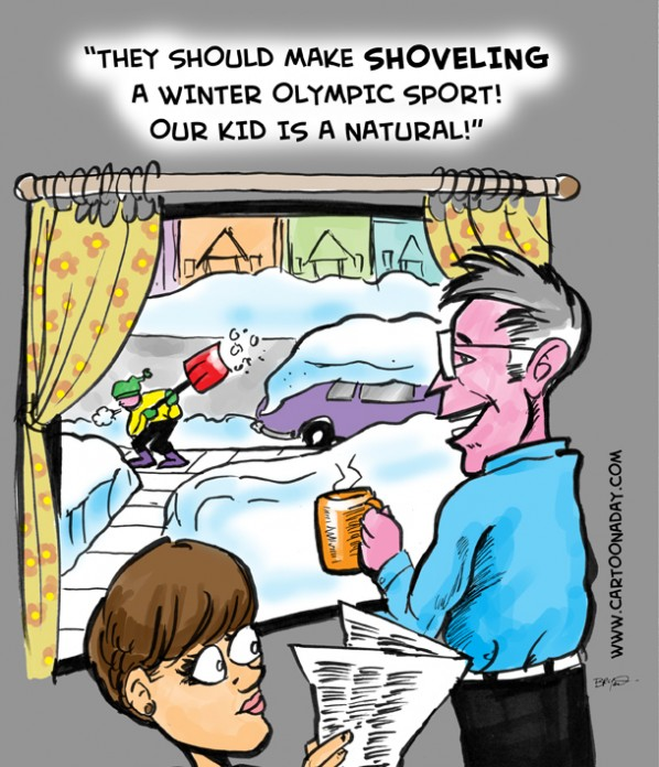 Olympic Snow Shoveling