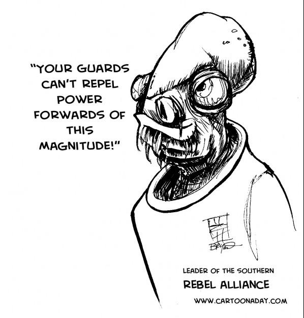 Star Wars Admiral Ackbar Ole Miss Mascot