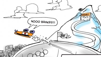 Bobsleds With No Brakes Cartoon