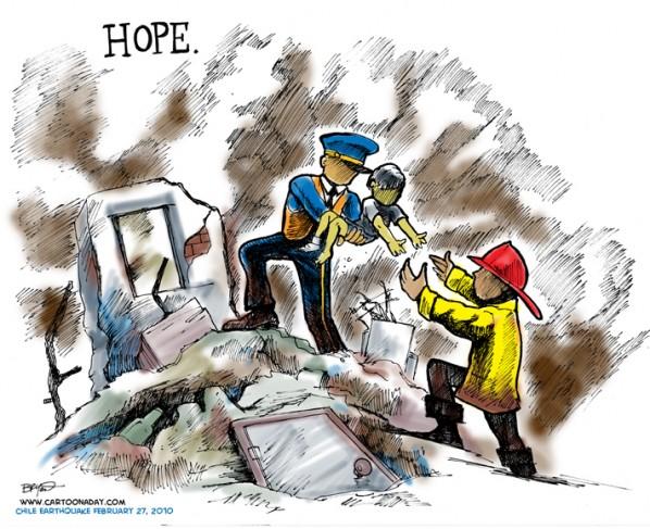 hope for chile survivors color