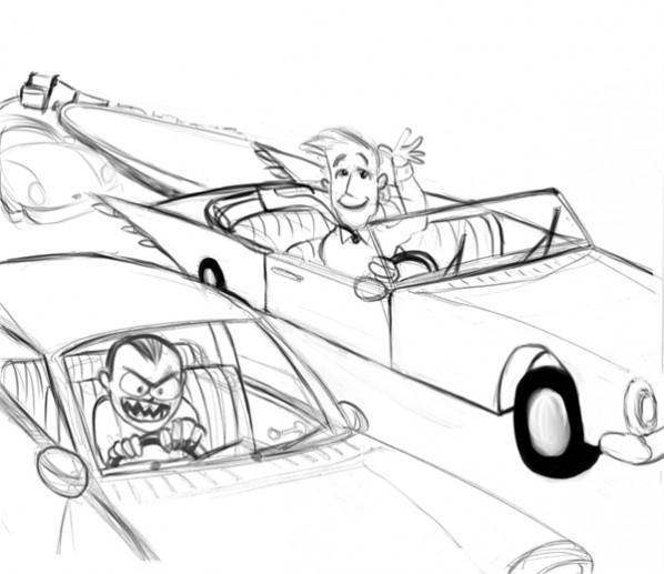 lasvegas road rage sketch