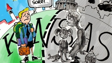 Kansas City Closes Half Its Schools this Fall Cartoon
