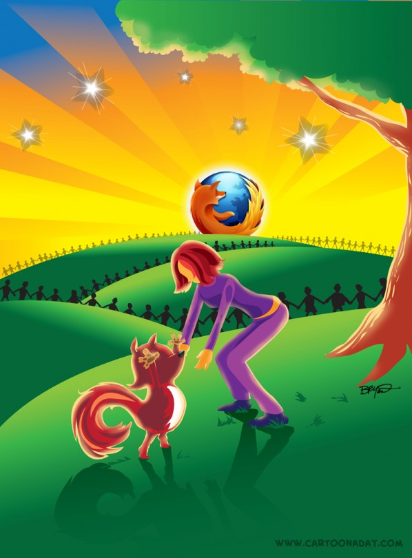 firefox poster five years