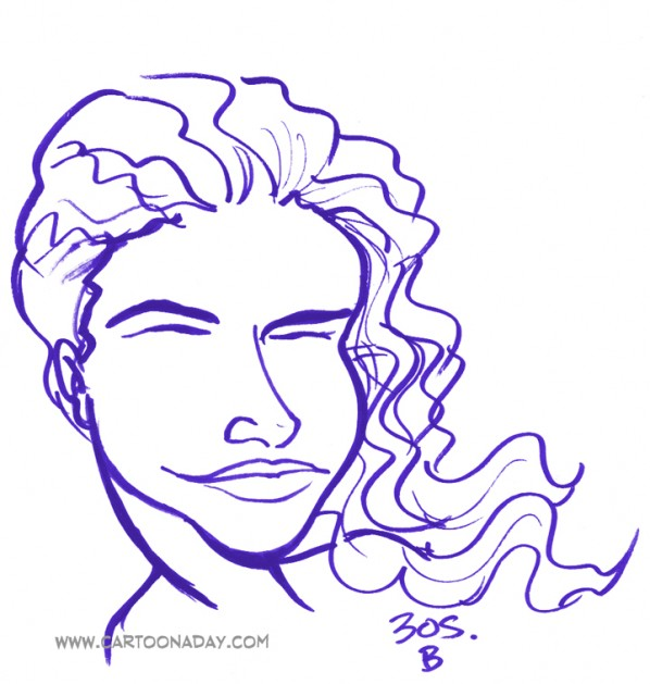 30sec Profile Caricature Hair