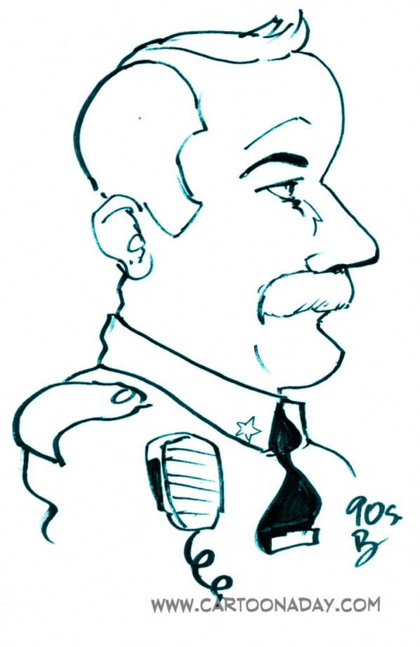 60sec Profile Caricature Cop 2