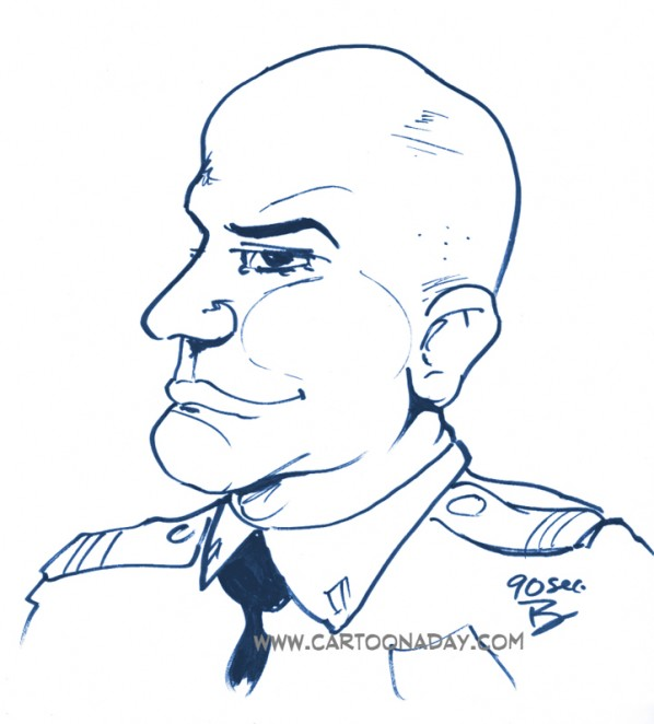 60sec Profile Caricature Cop