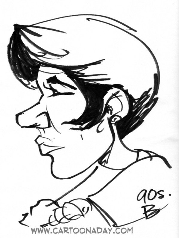 60sec Profile Caricature woman