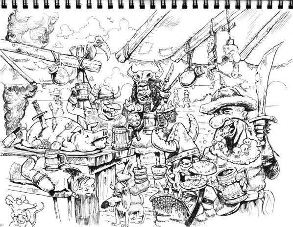 Barbarian City Cartoon_step 3c