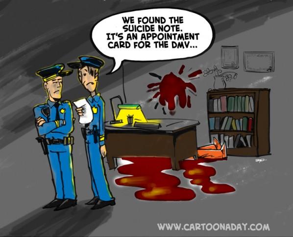 DMV Suicide