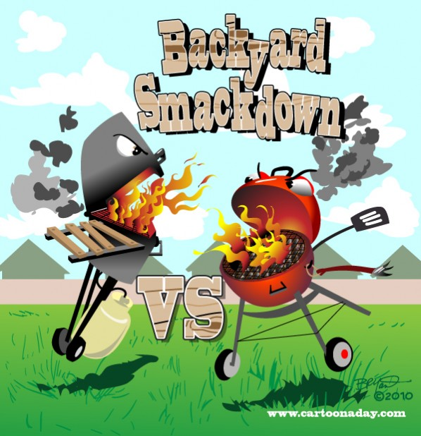Backyard Smackdown:Propane Vs Charcoal