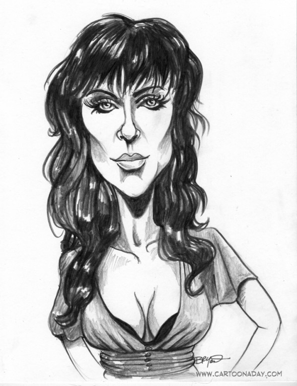 Sexy Woman Caricature