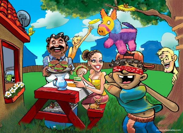 backyard party Cincodemayo