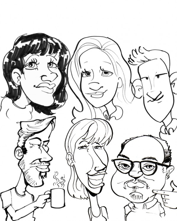 caricature collage panel 1