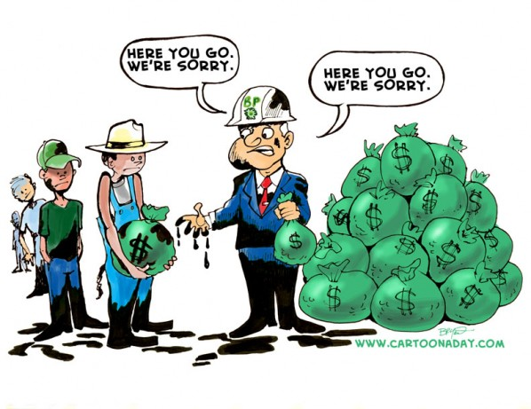 Bp oil Spill Cleanup Payoff Cartoon