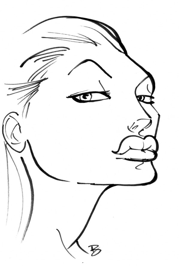 angelina jolie caricature cartoon
