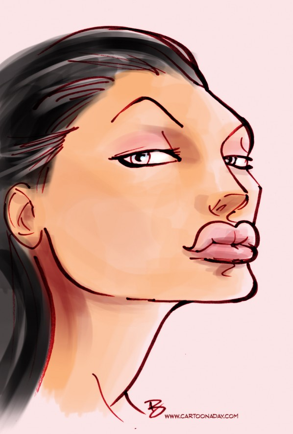 angelina jolie caricature cartoon color