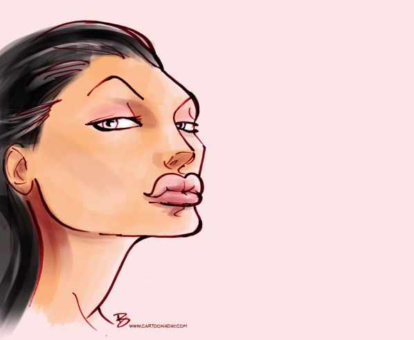 angelina jolie caricature cartoon color2