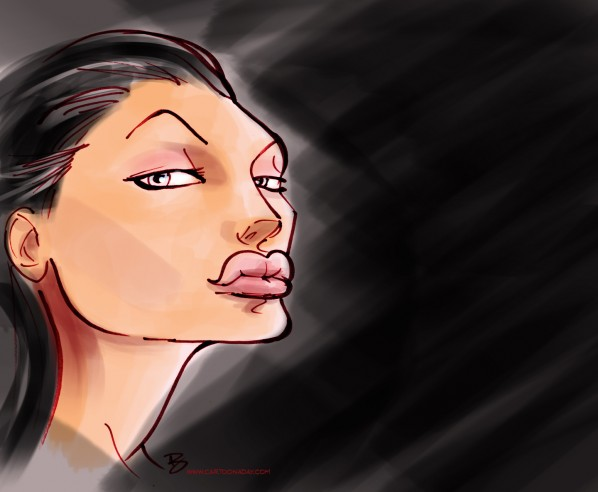 angelina jolie caricature cartoon color3