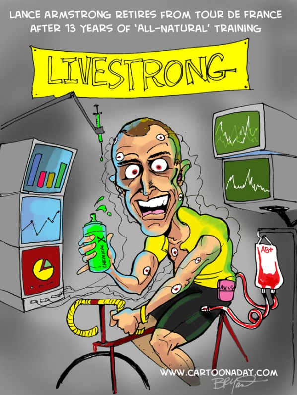 Lance armstrong retires tour de france bike race