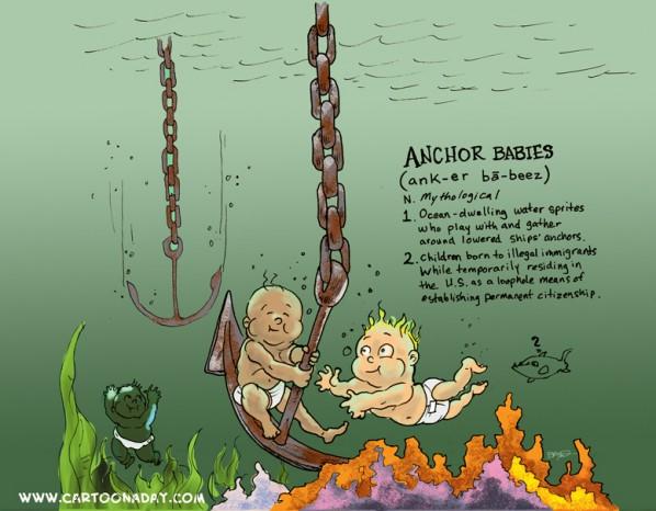 anchor babies cartoon
