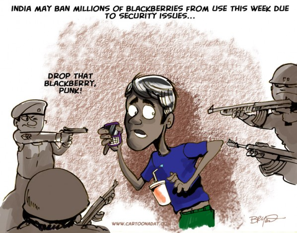 blackberries illegal in india
