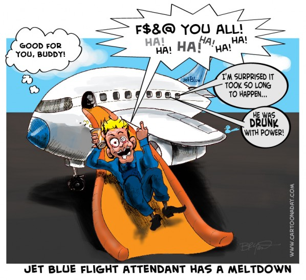 jet blue metldown cartoon
