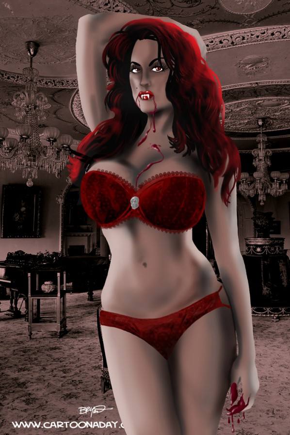 sexy red bra vampire fnl 598x897 I will miss my ring.