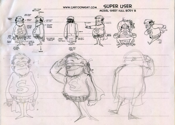 super user model sketch