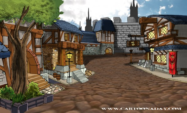 World of Warcraft Stormwind Cartoon Illustration