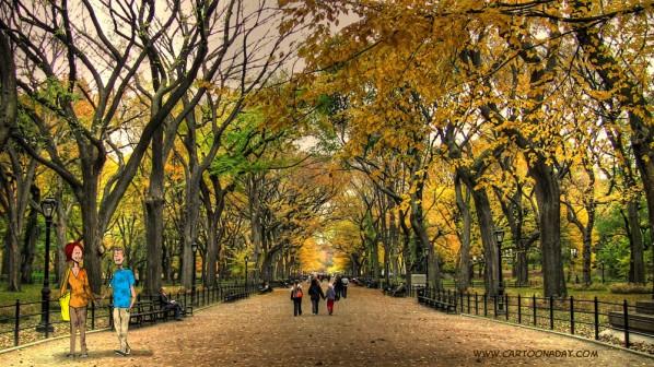 central_park_stroll_fall
