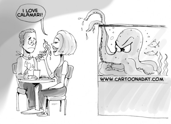 I Love Calamari Cartoon
