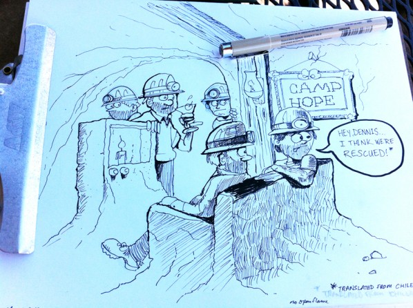 chilean miners sketch