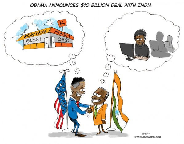 Obama makes $10 Billion Deal with India