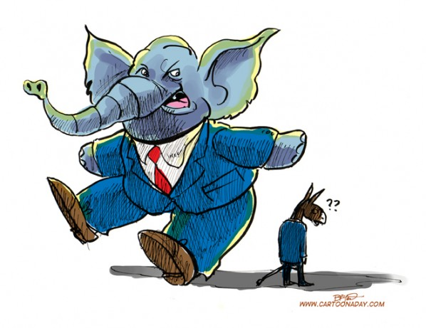 Republicans Over Democrats Cartoon