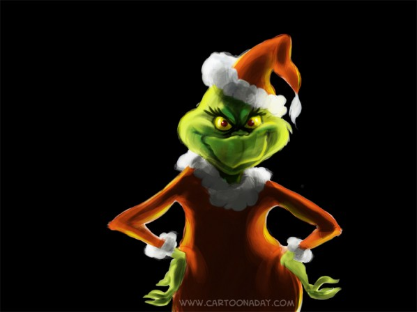 Christmas Grinch is Coming to Cartoon A Day  Cartoon