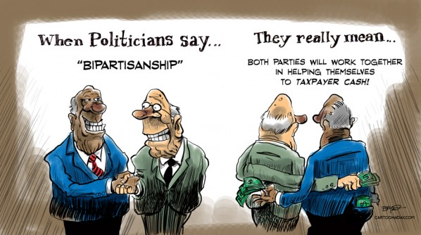 Funny Bipartisan Political Cartoon