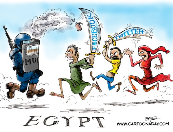 Egyptian People Fight Back With Facebook and Twitter