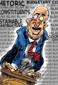 Funny Politician Speaking Cartoon